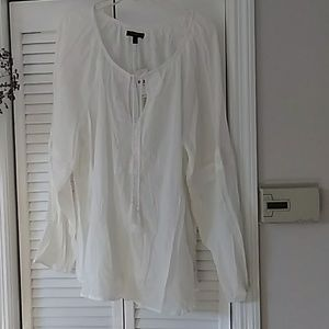 White sheer ladies top, beautiful  summer top beac